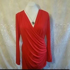 Sofia Vergara Beautiful Red Tunic Size Larg